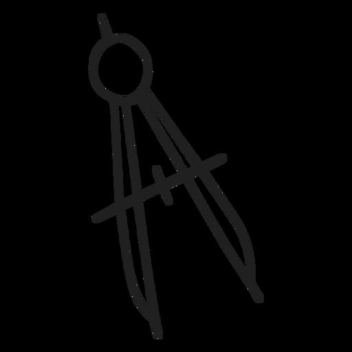 Doodle de herramienta de brújula