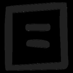 Equals sign math doodle