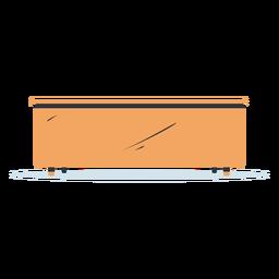 Ilustración de escritorio de vista frontal