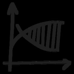 Logarithmic function graph doodle