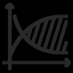 Logarithmic function graph stroke