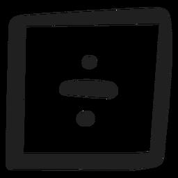 Doodle de división matemática