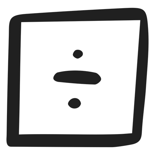 Doodle de división matemática Transparent PNG