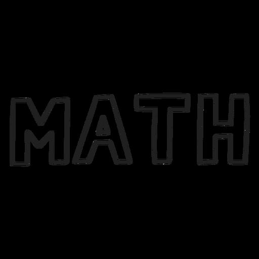 Trazo de asignatura de matemáticas