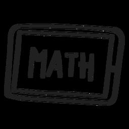 Math tablet doodle