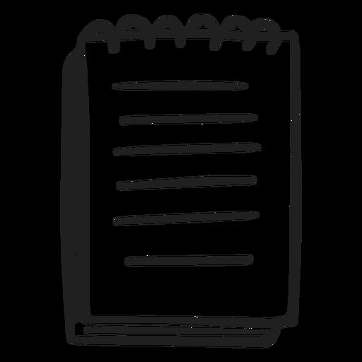 Doodle de notas escolares Transparent PNG