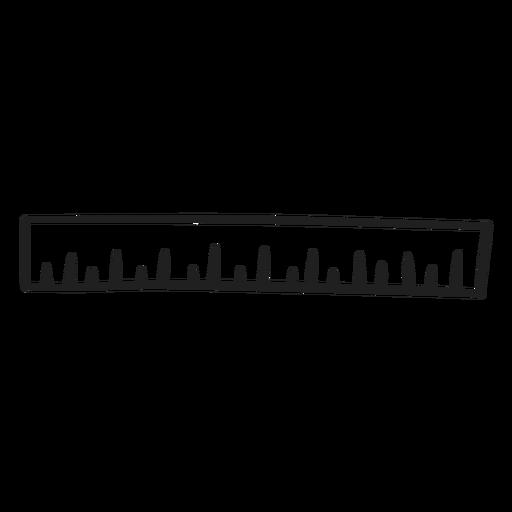Regla escolar doodle regla Transparent PNG