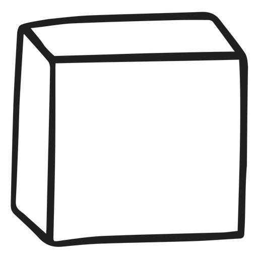 Forma cubo doodle