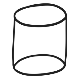 Doodle de cilindro de forma