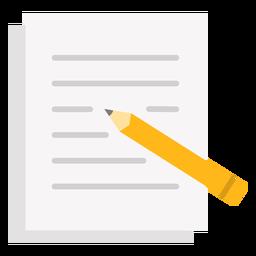 Escribir lapiz en papel