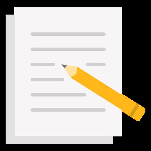 Escribir lápiz en papel