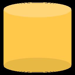 Gelber Zylinder flach