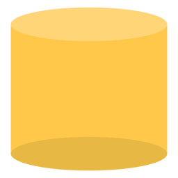 Yellow cylinder flat
