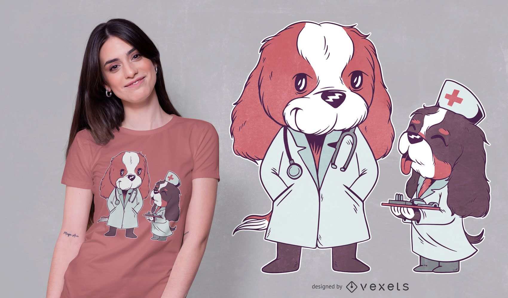 Medical Cavaliers T-shirt Design