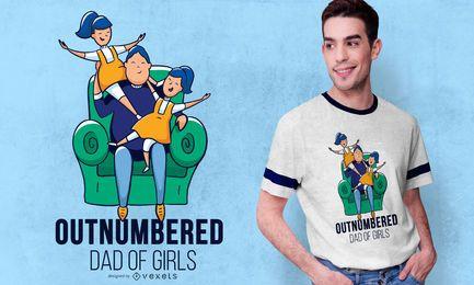 Diseño de camiseta de cita de papá de niñas