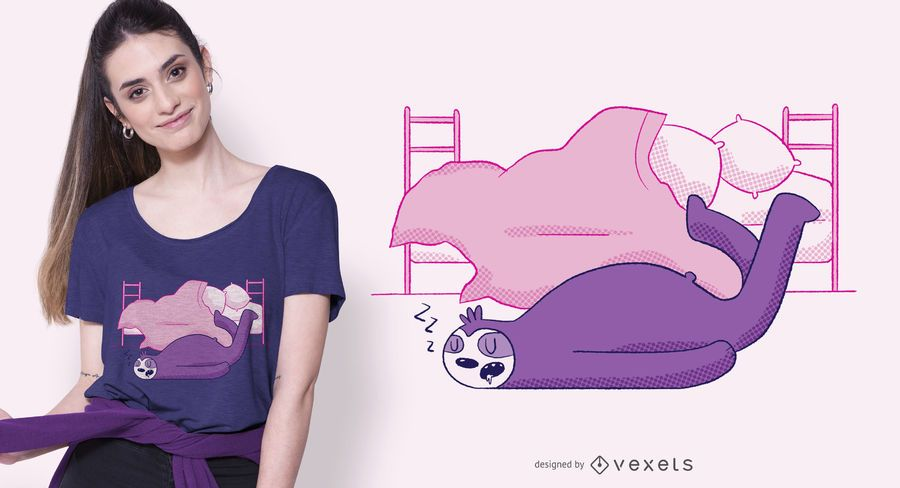 Lazy Sloth T-shirt Design