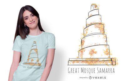 Projeto do t-shirt da mesquita de Samarra