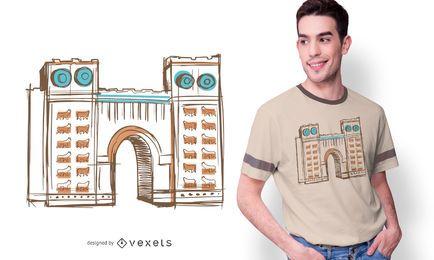 Diseño de camiseta de ilustración babilónica