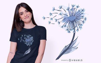 Aquarell Löwenzahn T-Shirt Design