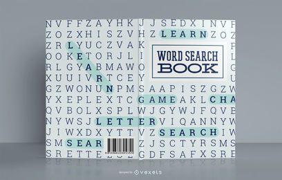 Design de capa de livro de pesquisa de palavras