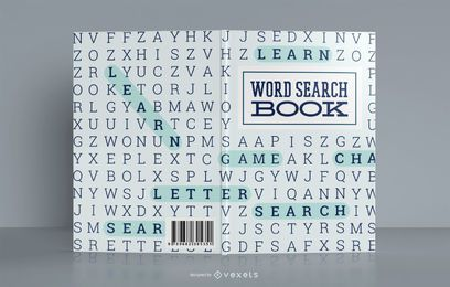 Diseño de portada de libro de Word Search