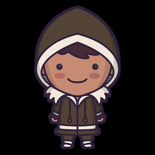 Chico lindo personaje de Alaska plana