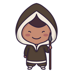 Alaska personaje lindo chico lanza plana