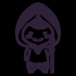 Trazo de lanza de chico lindo personaje de Alaska