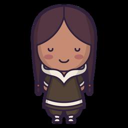 Alaska cute character girl long hair flat