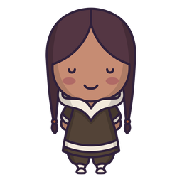 Alaska personaje lindo chica pelo largo plano