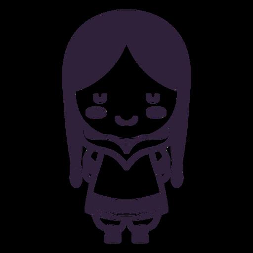 Alaska lindo personaje niña pelo largo trazo
