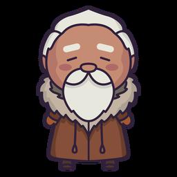 Alaska personaje lindo anciano plano