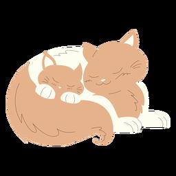 Ilustración de animales mamá y bebé gatos