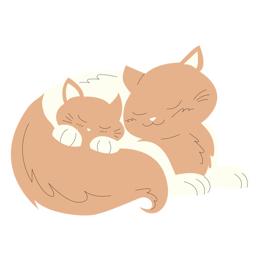 Animals mom and baby cats illustration