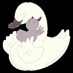 Animales mamá y bebé patos ilustración.