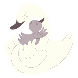Ilustração de animais mãe e patos