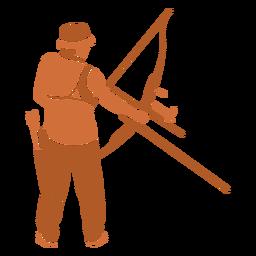 Archery man flat