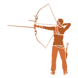 Archery man back flat