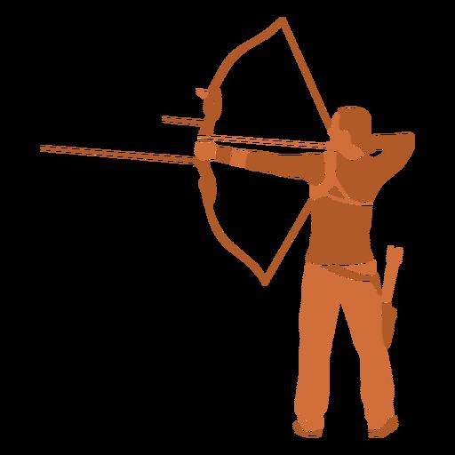 Archery man back flat