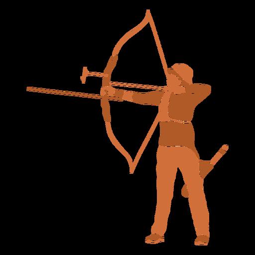 Archery man left flat