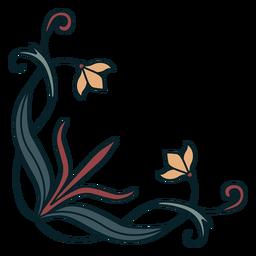 Canto de ornamento art nouveau liso