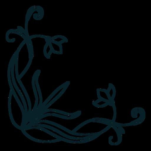Art nouveau ornament corner stroke