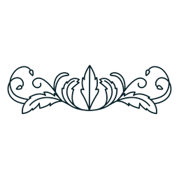 Art nouveau ornament horizontal thick stroke