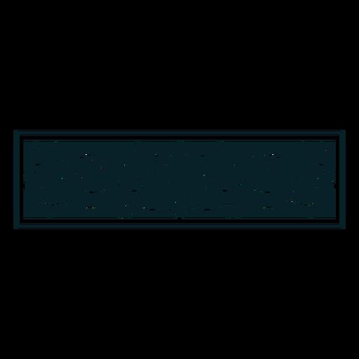Rectángulo de adorno art nouveau horizontal