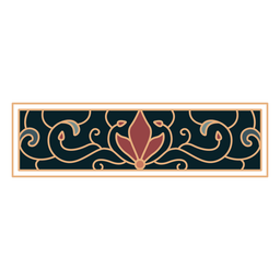 Art nouveau ornament rectangle horizontal flat