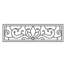 Art nouveau ornament rectangle horizontal stroke