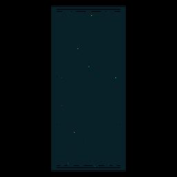Adorno art nouveau rectángulo vertical