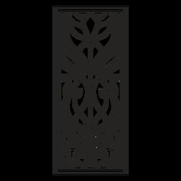 Art nouveau ornamento rectángulo trazo vertical