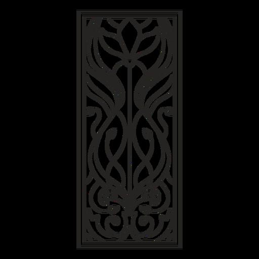 Trazo vertical de rectángulo de ornamento art nouveau