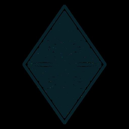 Art nouveau ornament rhombus